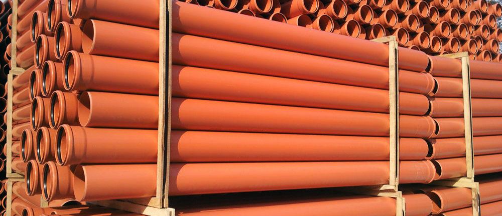 Рыжая канализационная труба