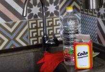 сода и уксус для прочистки труб